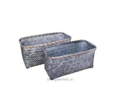 KNITTED BAMBOO BASKETS